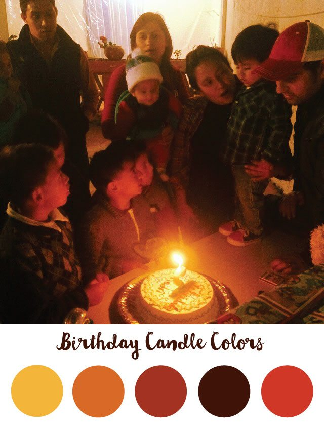 Birthday Candle Color Palette - RKA ink