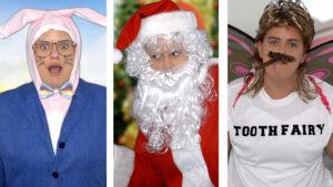 Easter Bunny Santa Tooth Fairy, Awkward Marketing