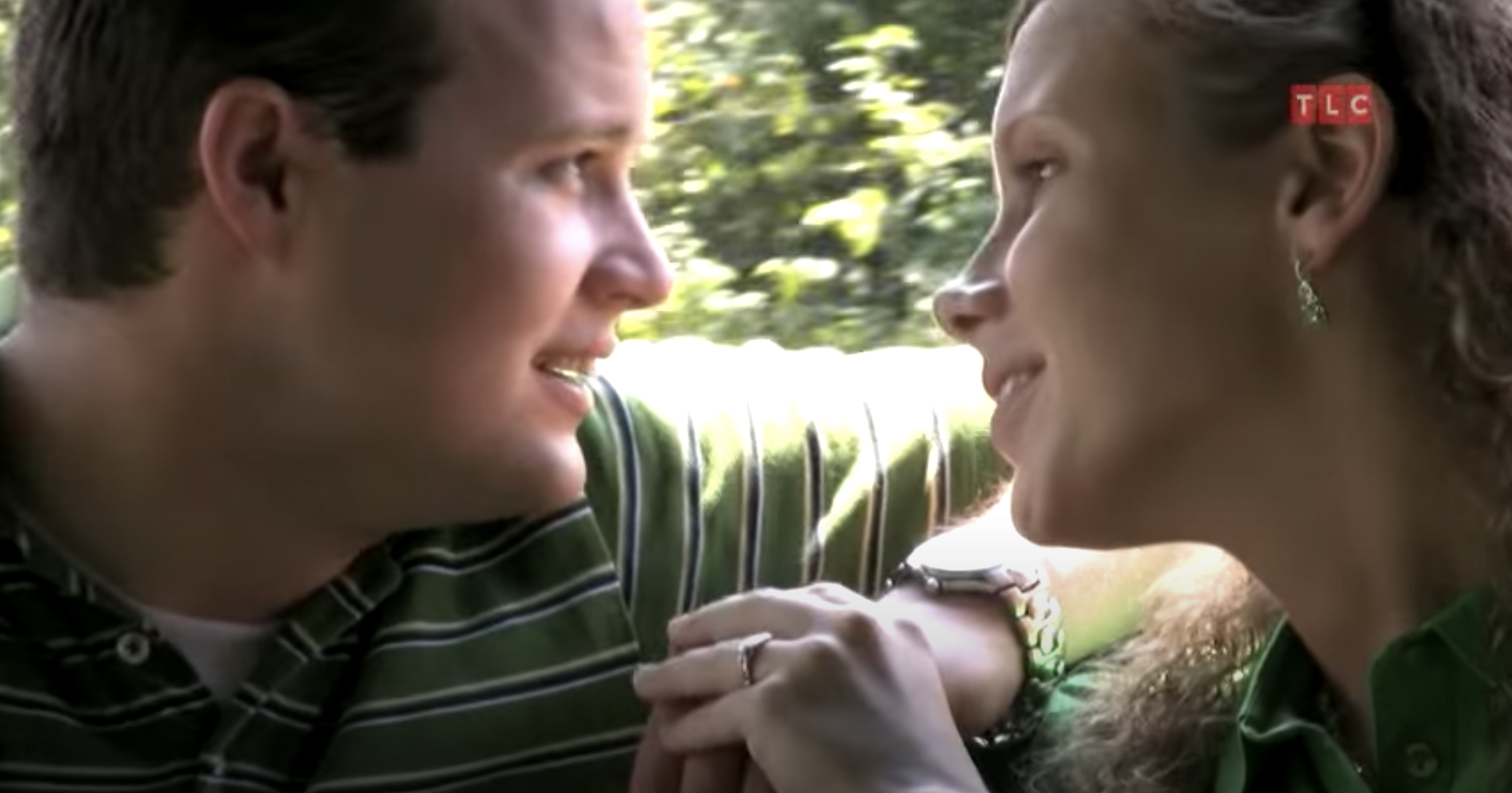Screenshot of Josh Duggar and Anna Duggar during their courtship on 19 Kids and Counting
