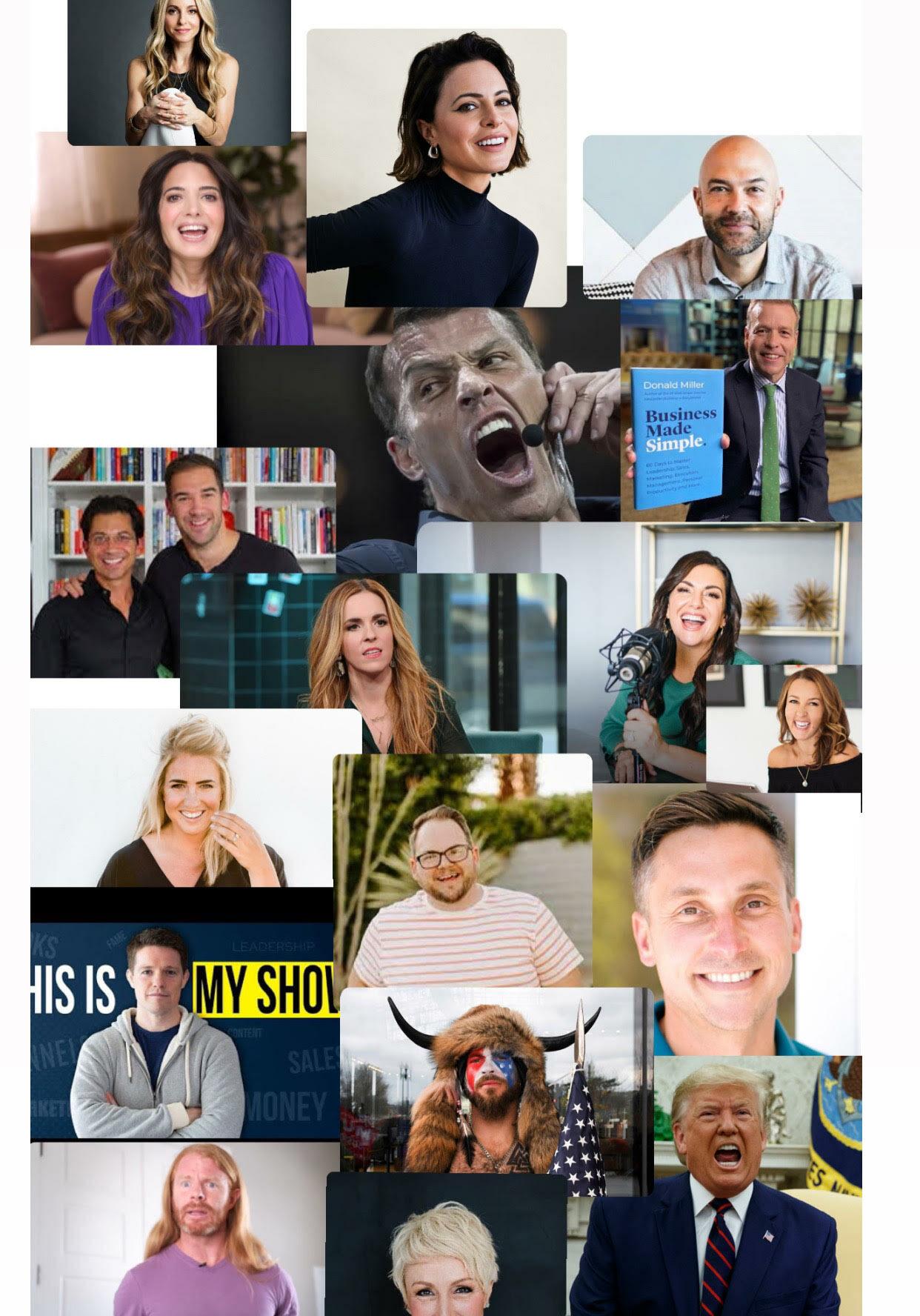 Online Marketing Cult Tony Robbins Marie Forleo Amy Porterfield Rachel Hollis Jenna kutcher
